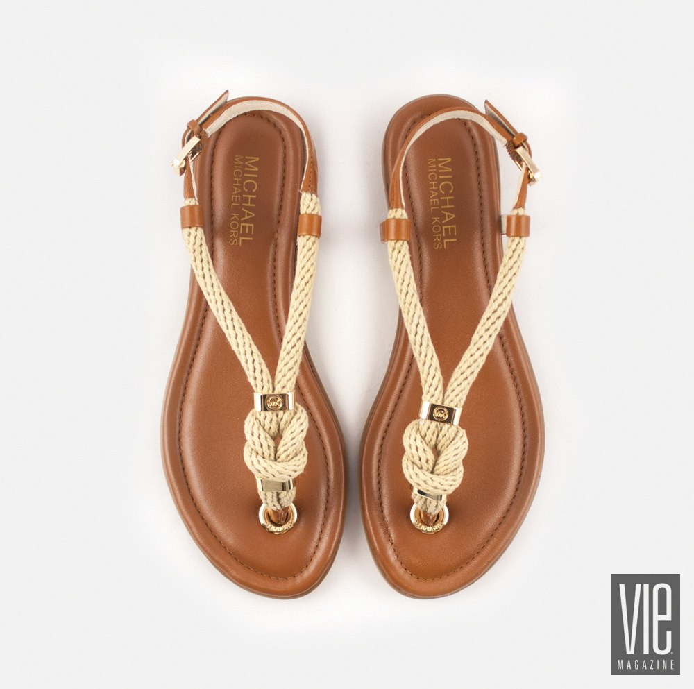 Michael Kors Holly Leather thong sandal