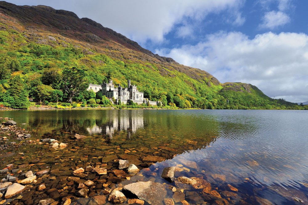 Kylemore Abbey in Connemara, County Galway