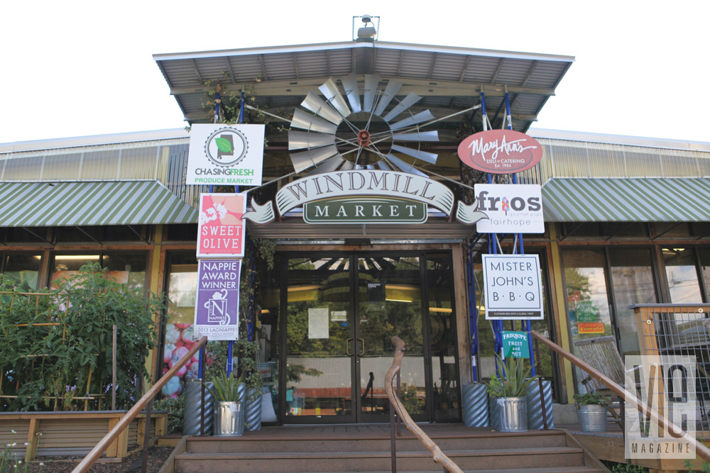 Windmill market in Fairhope, Alabama