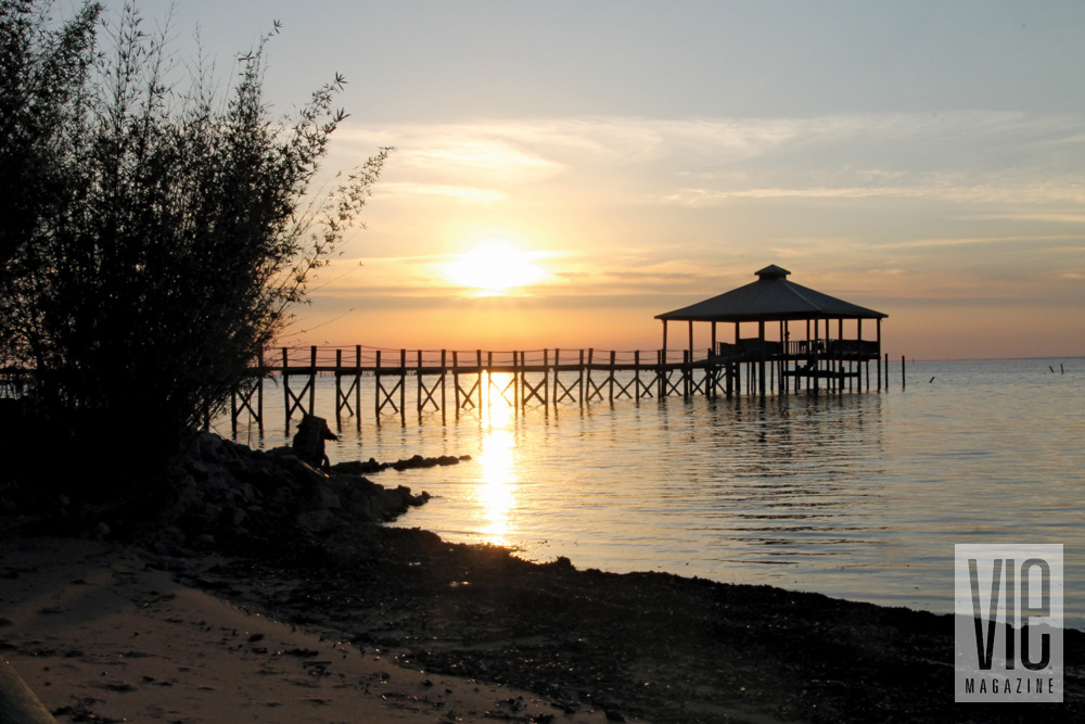 Dock at sunset in Fairhope, Alabama