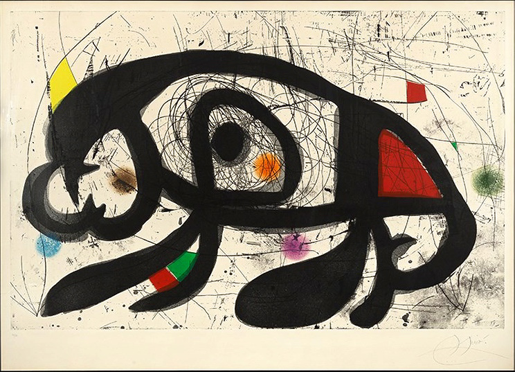 Vie Magazine La taupe hilare, Joan Miró – Etching and aquatint (1975)