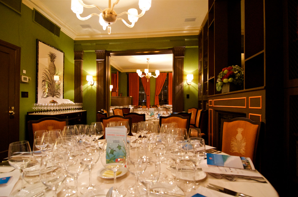 Dinner Table settings throughout James Beard House