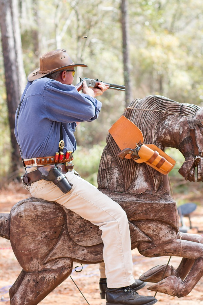 "Different props, including ""Pokey"" the horse, are used to facilitate the story for each shooting stage."