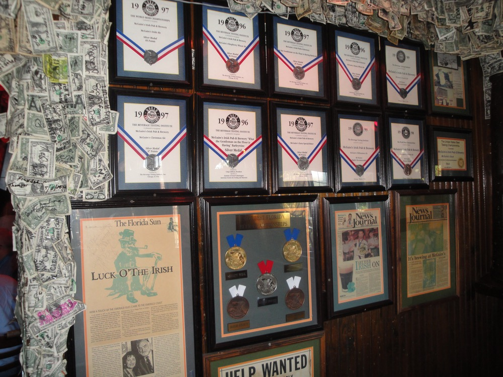 The Wall of Fame at McGuire's Brewery