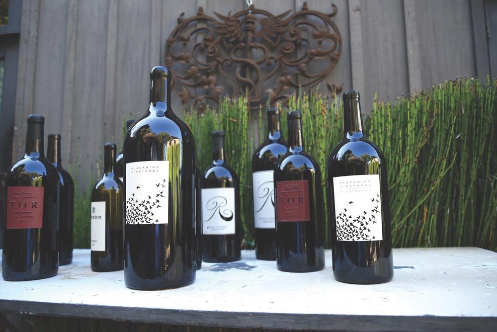 Bottles of wine for wine tasting in Napa Valley