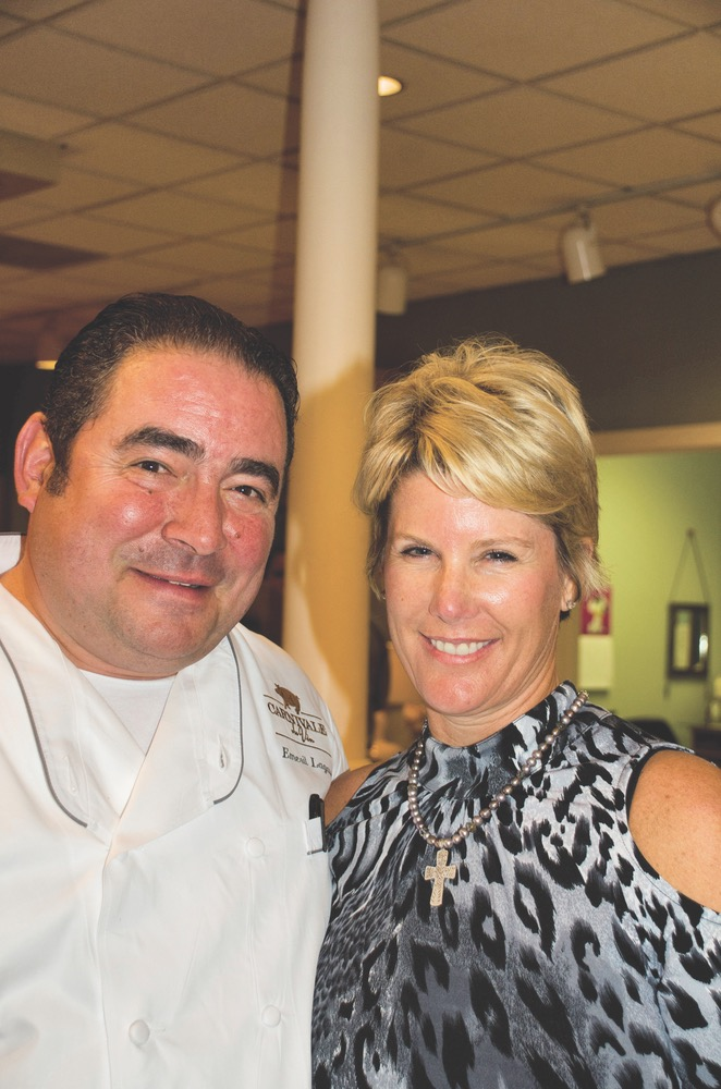 Emeril Lagasse and Laurie Beck