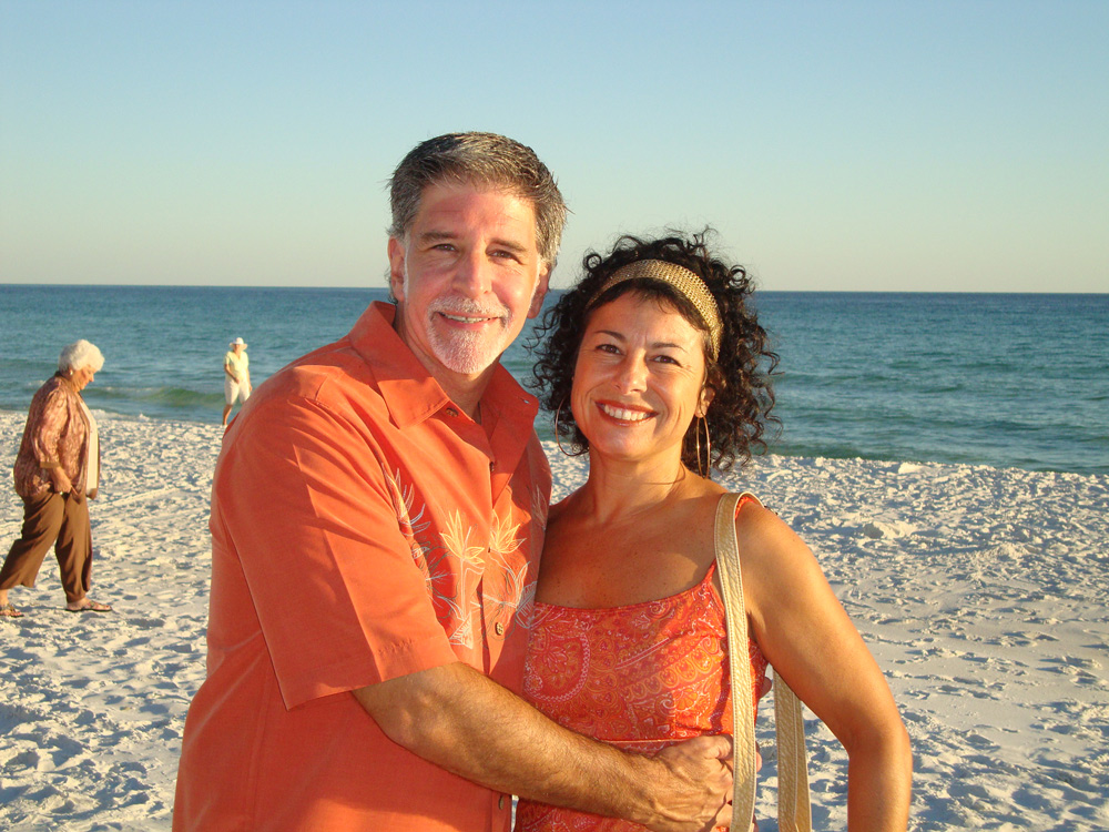 Gregory and Silvia at Miramar Beach, By Linda Coiro