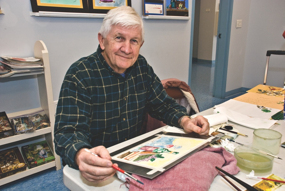 vie magazine birds of a feather art senior center painting