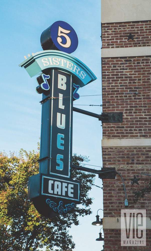 Pensacola Five Sisters Blues Cafe Sign in Downtown Pensacola