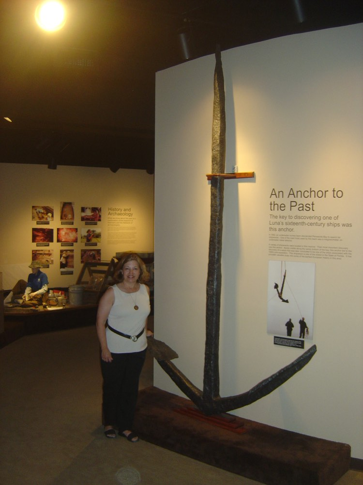 An Anchor from the Tristan de Luna ship displayed at the T.T. Wentworth Jr. Florida State Museum in Pensacola.