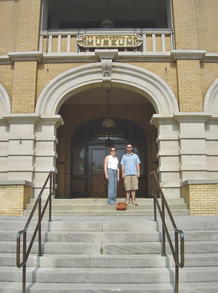 vie magazine Amanda Schuette and Matt Jones from Walton County at the T.T. Wentworth Jr. Museum