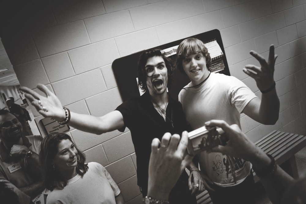 Tyson Ritter with Taylor's best friend Trenton Kilbey Photo by Rhona Schaefer