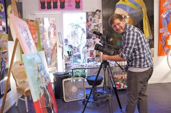 Ben Rosenau zones in on the artistic process at Ashley Longshore Art for VIE.