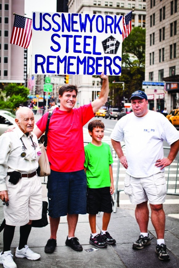 Survivor John Hamm with his son and brother Steve.