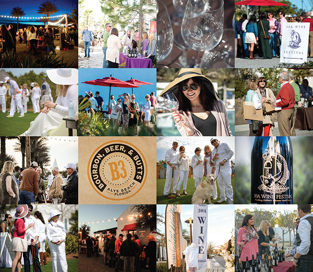 Collage of Last Year's Event; Image Courtesy of 30A Wine Festival