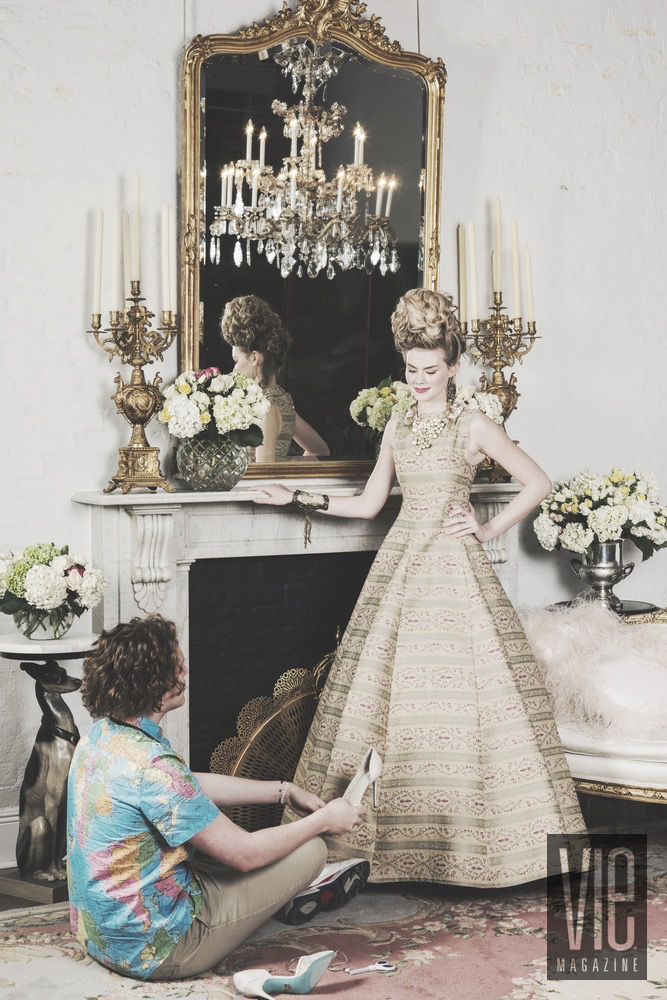 Cinderella Story When Designer Tieler James Helps Miranda Abney Put On Shoes