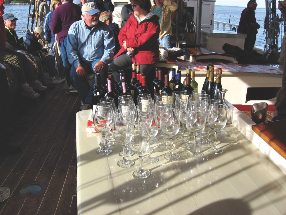 vie magazine wine tasting the windjammer way the taber