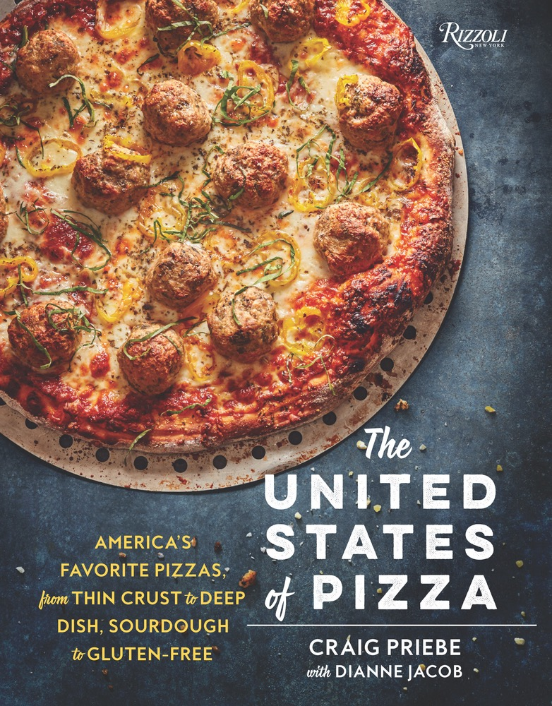 The Cover of The United States Pizza Featuring A Rustic Meatball Pizza On Cook Book