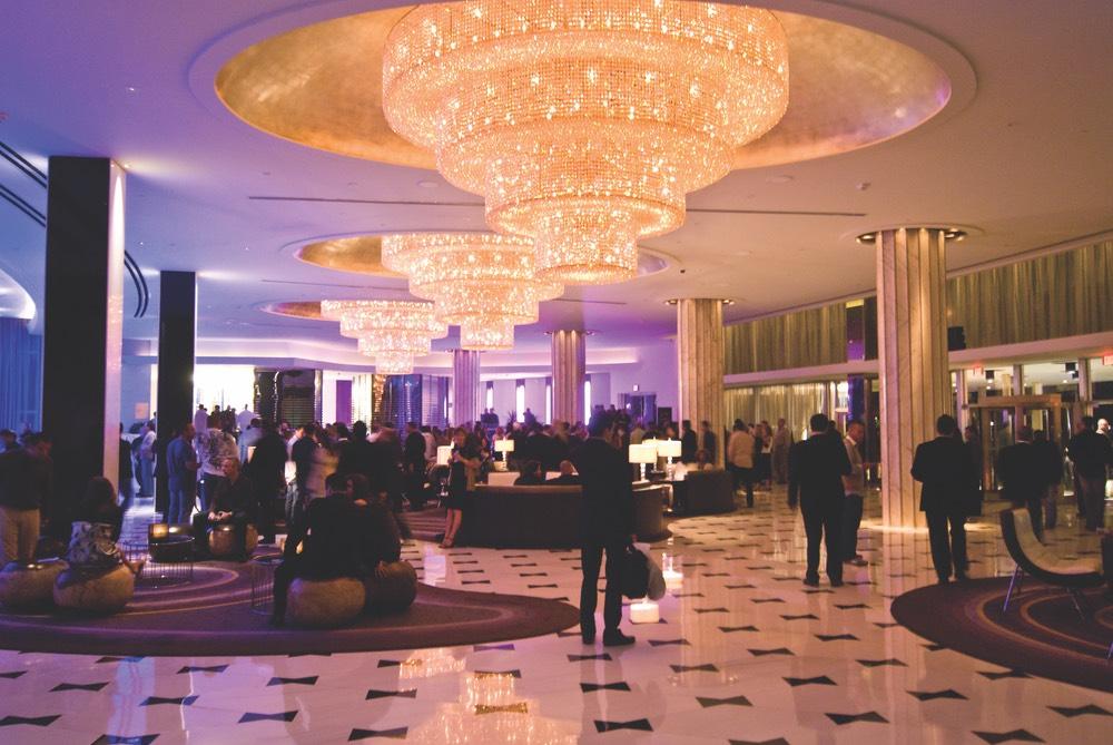 The lobby of Fountainbleau
