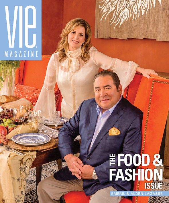Emeril and Alden Lagasse on the cover of VIE March/April 2014 | Photo by Romona Robbins
