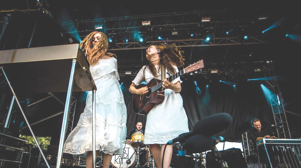 two girls performing at Sloss Music Fest 2015