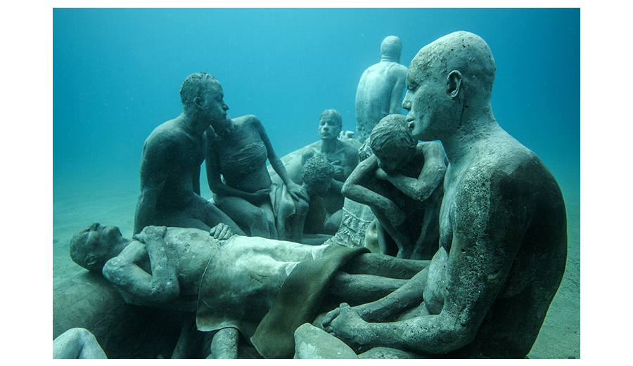 Jason deCaires Sculpture Depicts The Tragedy Of The Consequences of Global Warming