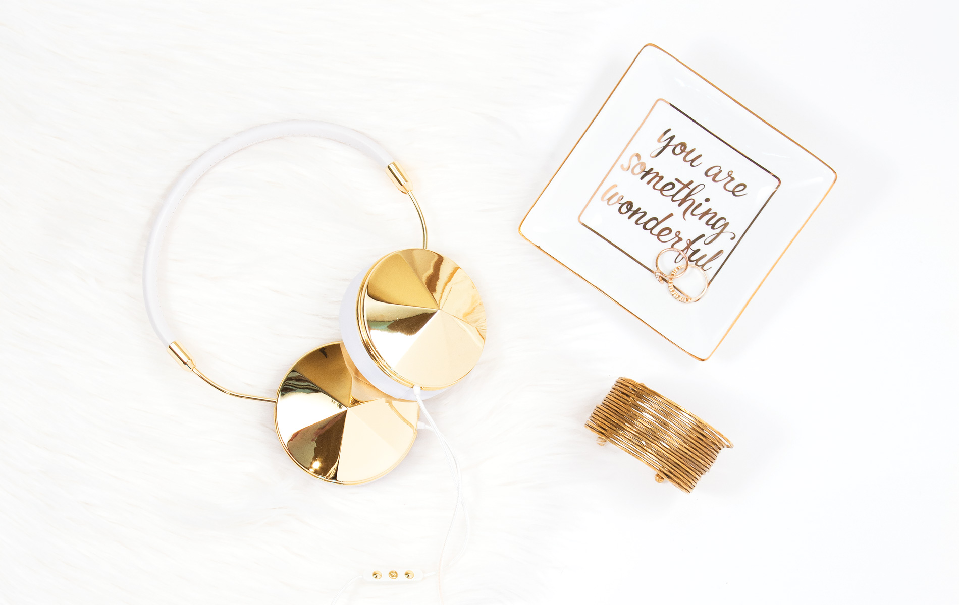 frends taylor gold and white headphones cest la vie curated collection summer 2016