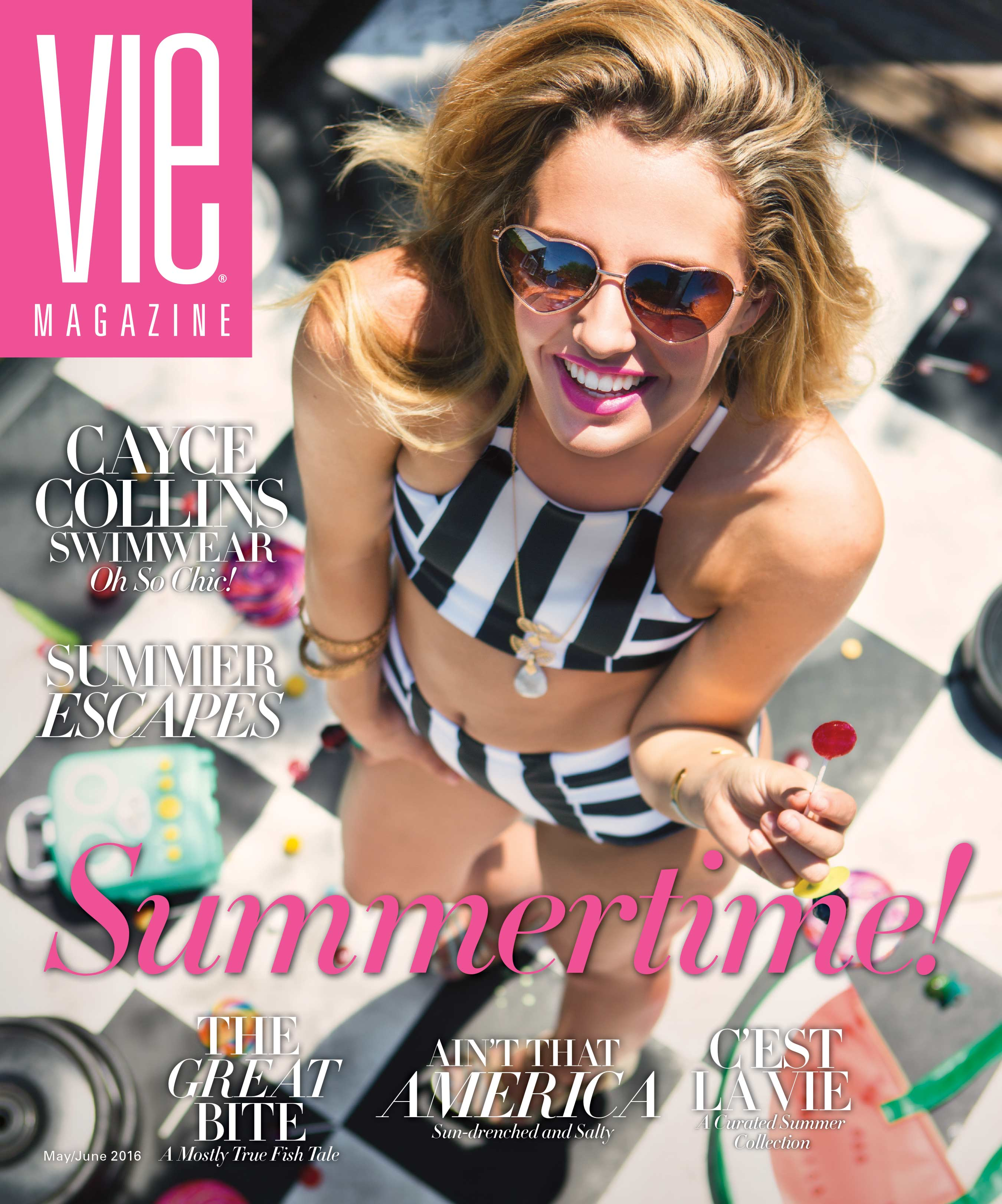 VIE magazine May June 2016 Summertime Issue cover