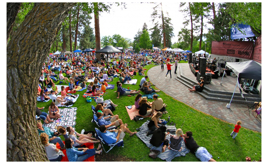 Bend Oregon Crowded Fourth Of July Celebration