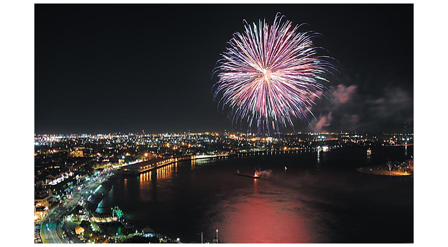An Aerial View Of New Orleans and The Mississippi River During Independence Day