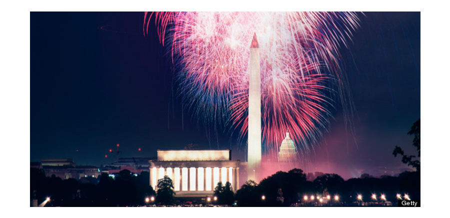 Washington DC Fireworks Display During Fourth Of July