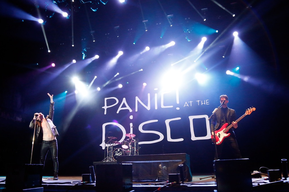 Panic at the Disco on stage at 2016 Hangout Music Festival