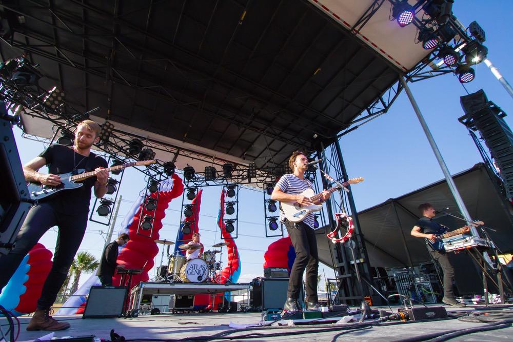 Atlas Genius band performs at Hangout Music Festival 2016
