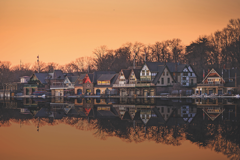 Boathouse Row Philadelphia, Pennsylvania Architecture Hometown rowing boats