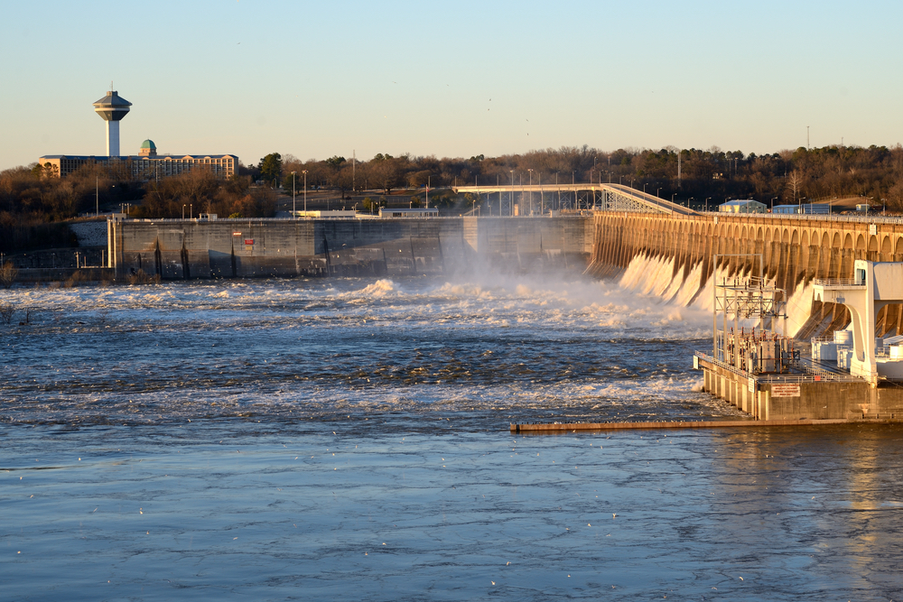 Wilson Dam and the Renaissance Tower Florence Alabama Architecture Hometown