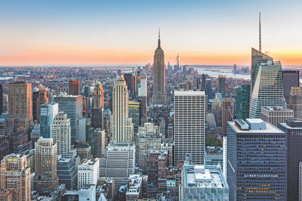 Manhattan, New York is the epitome of impressive skyscrapers and classic vision. Chrysler Building, the Empire State Building, and the new One World Trade Center, also known as the Freedom Tower Skylines of the World