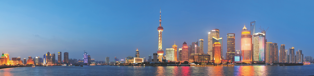 Shanghai, China Skyline futuristic metropolis creative architecture world