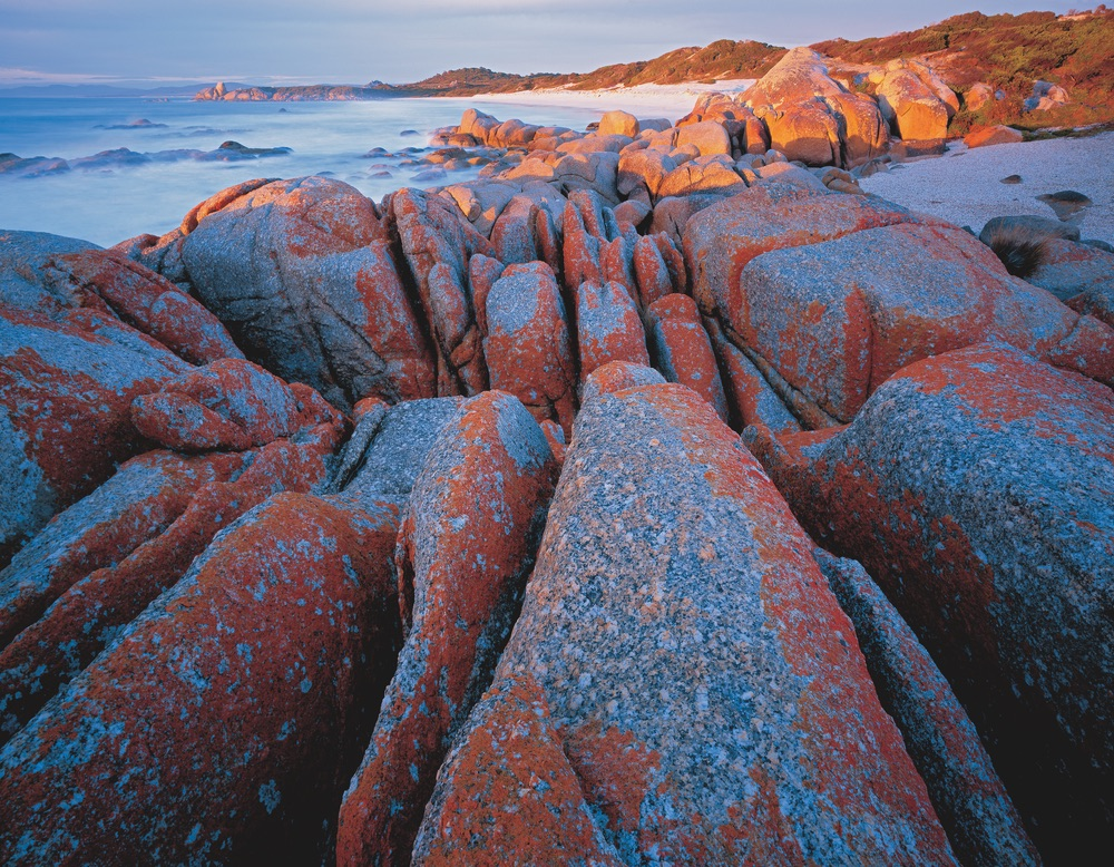 Granite shoreline bay of fires tasmania travel