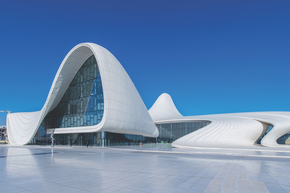 Heydar Aliyev Center in Baku, Azerbaijan. Zaha Hadid Architect Architecture