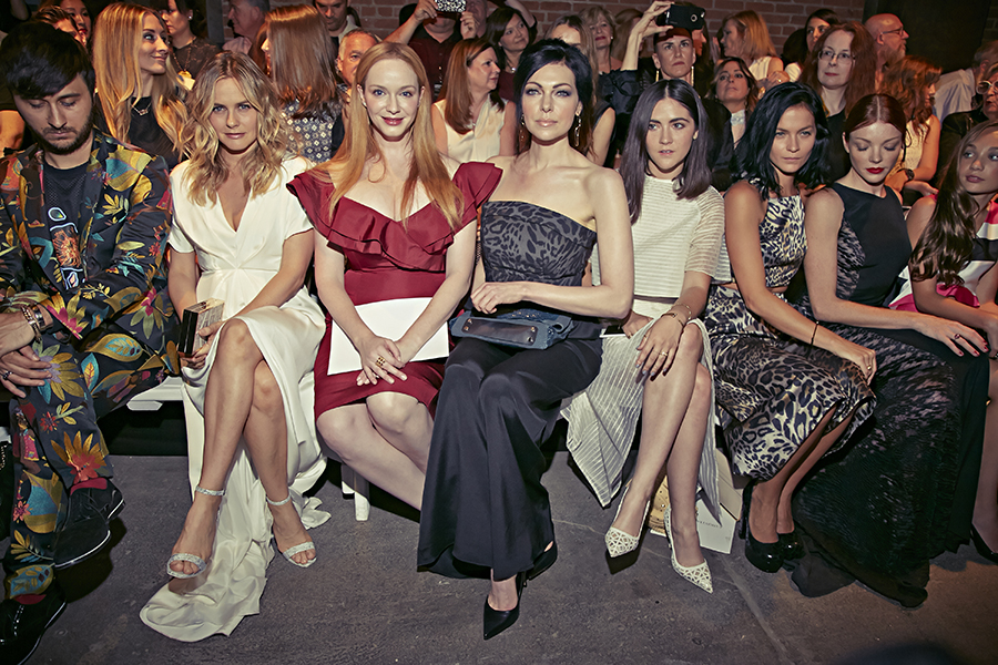 Celebrities donning Christian Siriano's collection during Spring Summer 2016 New York Fashion Week