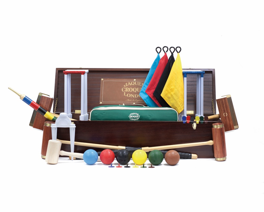 C'est La VIE Curated Collection Enchanted Garden Party Jaques America Balmoral 6-Player Croquet Set