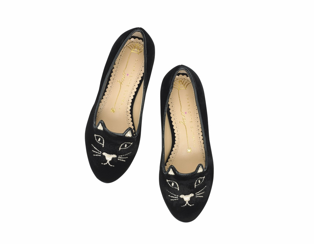 C'est La VIE Curated Collection Enchanted Garden Party Charlotte Olympia Incy Kitty Flat