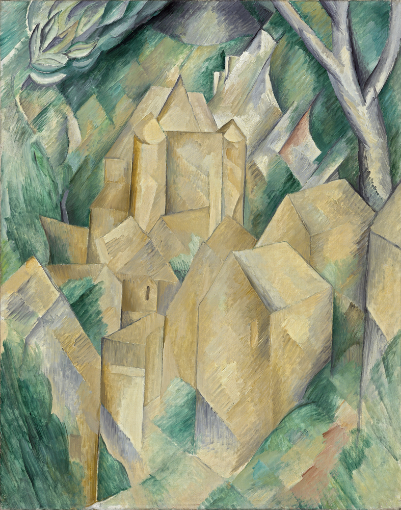Georges Braque, Le Château de la Roche-Guyon, 1909. © ADAGP, Paris 2016. Courtesy Pushkin Museum, Moscow Louis Vuitton Icons of Modern Art: The Shchukin Collection