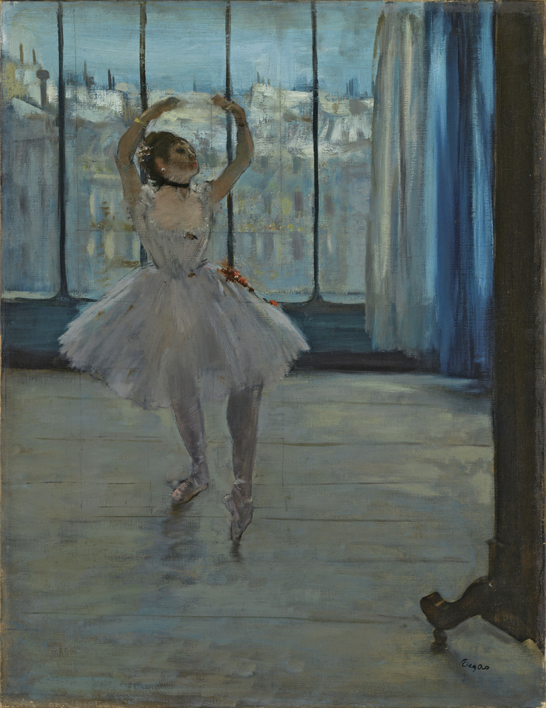 Edgar Degas, La Danseuse dans l'atelier du photographe, 1875. Courtesy Pushkin Museum, Moscow Louis Vuitton Icons of Modern Art: The Shchukin Collection
