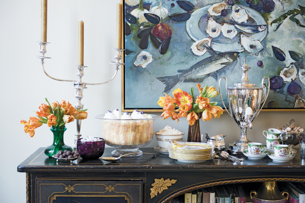 Julia Reed: At Home in the South styled breakfast table