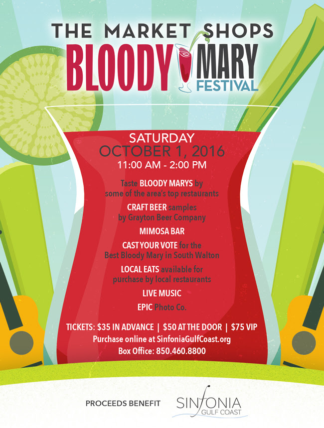 Bloody Mary Festival 2016 at The Market Shops in Destin Florida Flyer