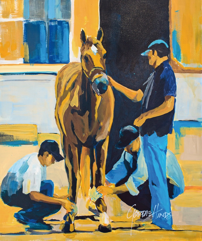 After the Breeze – American Pharoah Gordie Hinds beach artist horses color