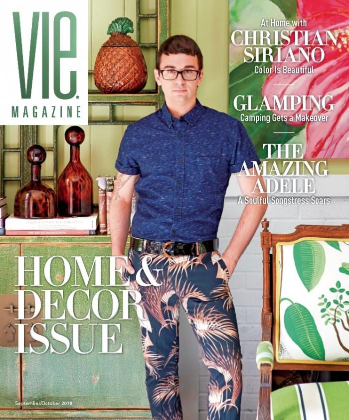 VIE Magazine Sept-Oct 2016 Issue feat Christian Siriano home