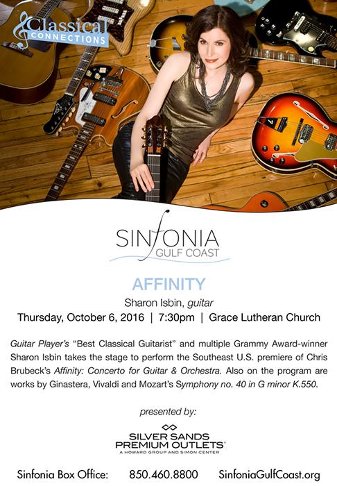 Sinfonia Gulf Coast Affinity featuring Sharon Isbin