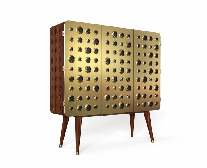 Monocles Brass Bar Cabinet modern furniture cest la vie the sophisticate 2016